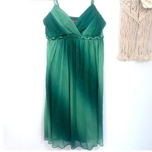 🍁3 for 20 Ruby Rox Mini Dress Glitter Green Small